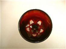 12 flûtes à champagne rouge rubis