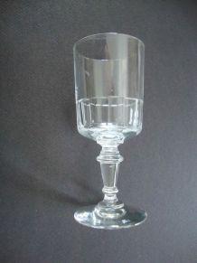 Set 6 petits verres cristal coloré