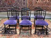 Suite de 6 chaises Napoléon III fin XIXème