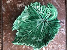 Vide poche feuille verte vintage