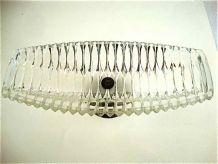 Coupe sur pied en cristal art nouveau
