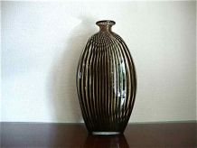 Vase soliflore en verre soufflé, style art déco