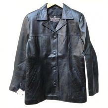 veste femme  en veritable cuir noir