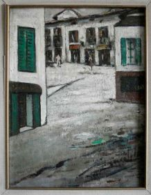 Tableau ancien village italien
