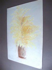 Tableau bouquet de mimosas