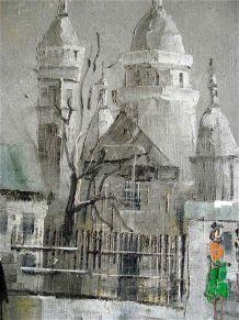 Tableau Montmartre en hiver 1973