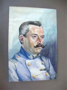 Tableau - Portrait d'officier 1916