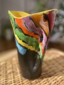 vase vintage peint main