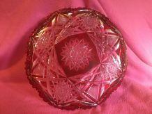 plat en cristal de bohème