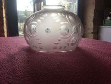 grand globe en verre gravé meulé