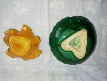 Duo de feuilles barbotine