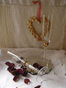 Duo de  flutes à champagne