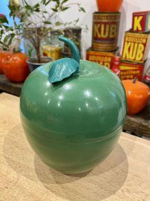 Seau à glaçons pomme verte vintage