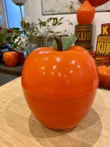 Seau à glaçons pomme orange vintage