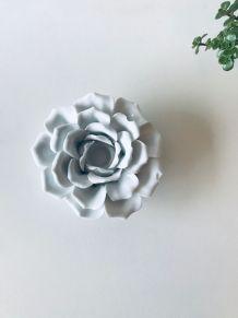 Bougeoir fleur en céramique