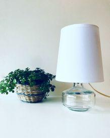 Lampe vintage transparente en verre