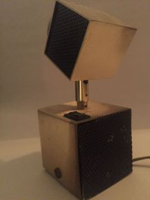 Lampe de Bureau Moderniste Cubique 1950s