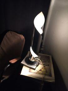 Lampe Space Age Métal Chromé et Laqué 1970s