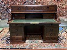 Bureau à cylindre Louis Philippe XIXème en acajou