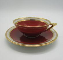 service à café art-déco porcelaine de Limoges René Frugier
