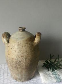 Bonbonne ou jarre en grès vernissé 2 anses