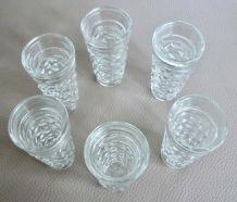 6 verres des années 50