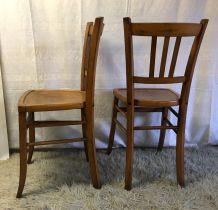 Série de 5 chaises bistrot Luterma – années 50