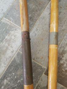 Anciennes pagaies en bois vintage
