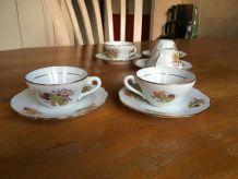 Cinq tasses à café Chapus Frères Limoges