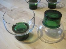 6 verres coupe champagne /glace 1970 vintage