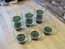 9  verres a eau  ancien 1970 vintage   .