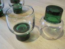 6 petits  verres a vin blanc porto apéritifs   1970 vintage