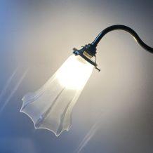 ANCIENNE LAMPE MONTE & BAISSE EN LAITON VINTAGE