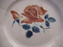 Set 6 assiettes plates Digoin Sarreguemines