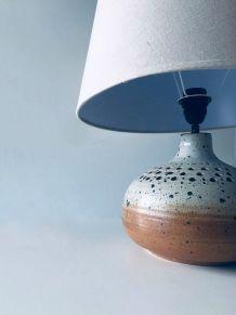 Grosse lampe vintage en grès