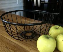 Corbeille fruits métal filaire noir