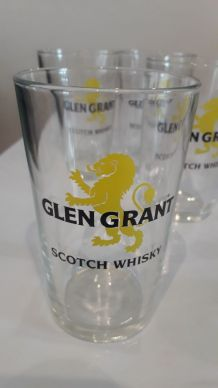 4 verres Glen Grant