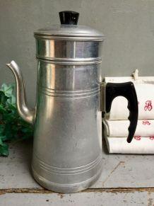 Ancienne cafetière Aluminium et bakélite LE TRÈFLE