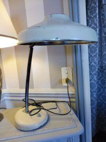 Lampe bureau vintage années 50 crème