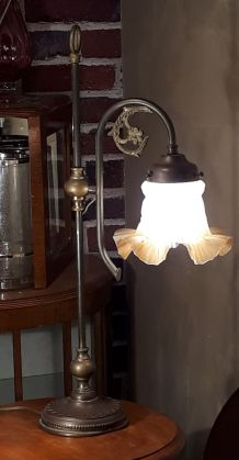 grande  lampe 1900  a tulipe  art nouveau