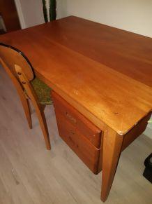 BUREAU VINTAGE DESIGN SCANDINAVE Bureau en bois vintage très