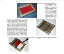 Ancienne presse Châssis en  feutre et bois  Matériau Collect