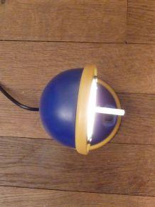 Lampe de Bureau Vintage Bleu et Jaune Ajustable- Mathias