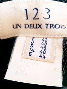 Jupe kaki vintage boutonnée