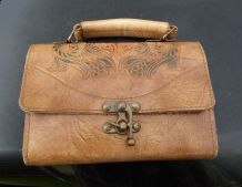 Mini sac vintage cuir épais