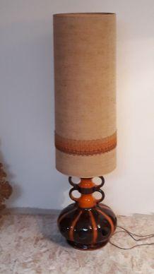 lampe geante avec ceramique citrouille