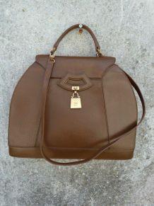 Karl Lagerfeld sac cuir marron