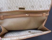 DIOR sac toile et cuir bandoulière 70s