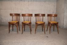 Série de 4 chaises Fischel années 1929-1934