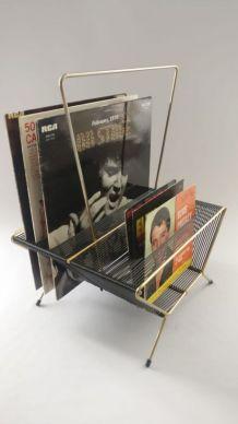 Porte vinyles vintage